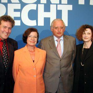 Kreisvorsitzender Thomas Ostermann, Mechtild Rothe MdEP, EU-Kommissar Günter Verheugen und Landratskandidatin Ulrike Boden