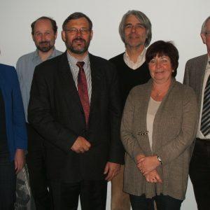 v. l. n. r.: Ulrike Sommer, Dr. Thomas Krümpelmann, Georg Fortmeier, Hans Feuß, Ulla Ecks und Wolfgang Bölling